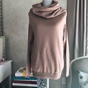 Brunello Cucinelli cashmere pink beige cowl neck